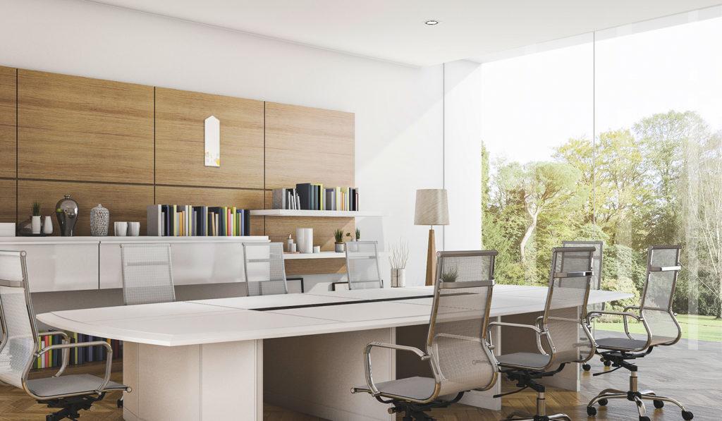 オフィスの中心に設置しても、絵画のようなワンポイントに。