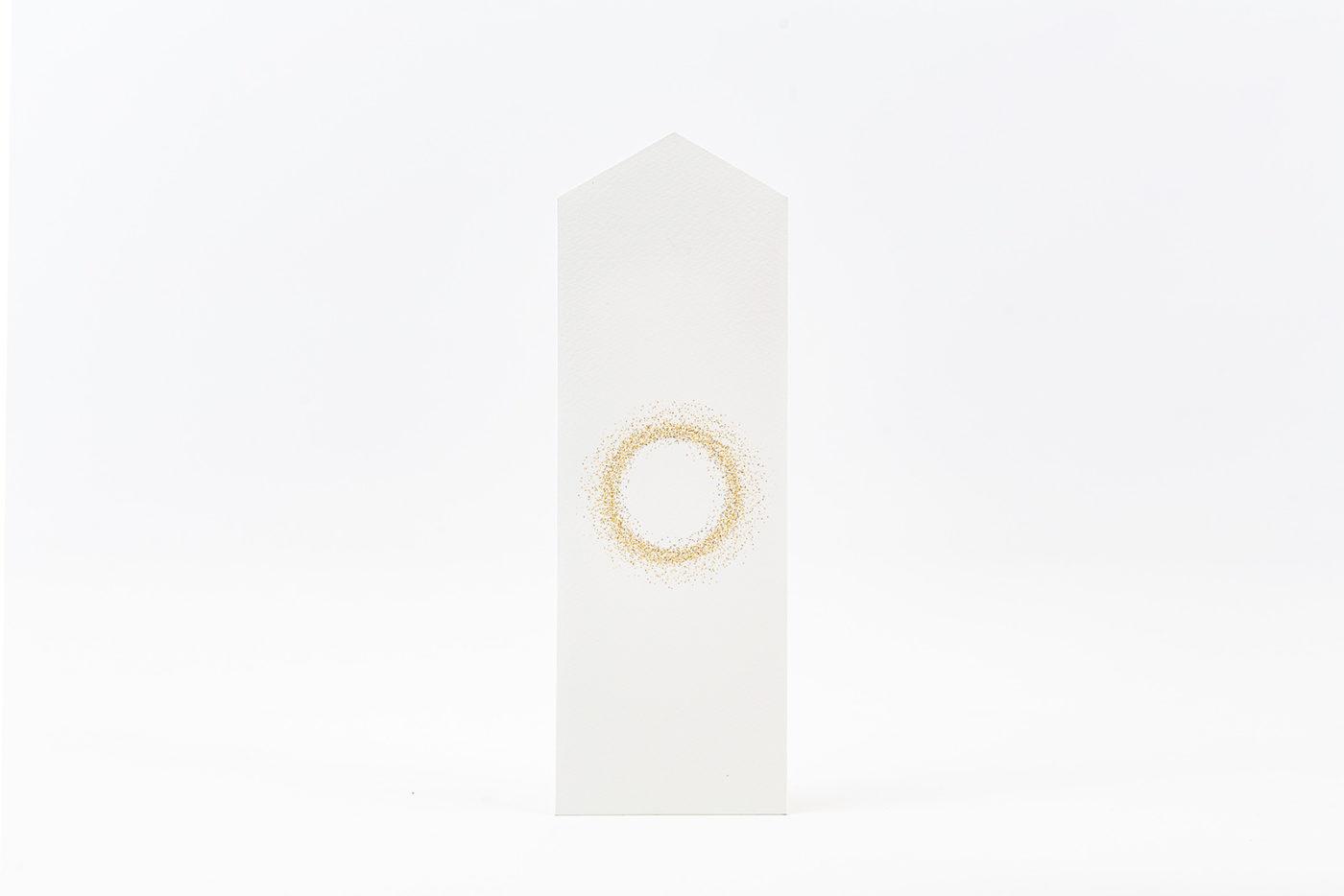 太陽をイメージした美しい金の円。ゴールデンサークル。